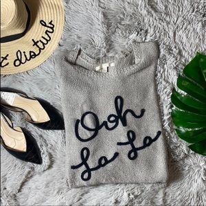 """🌺 Lauren Conrad grey """"ooh la la"""" sparkle sweater"""